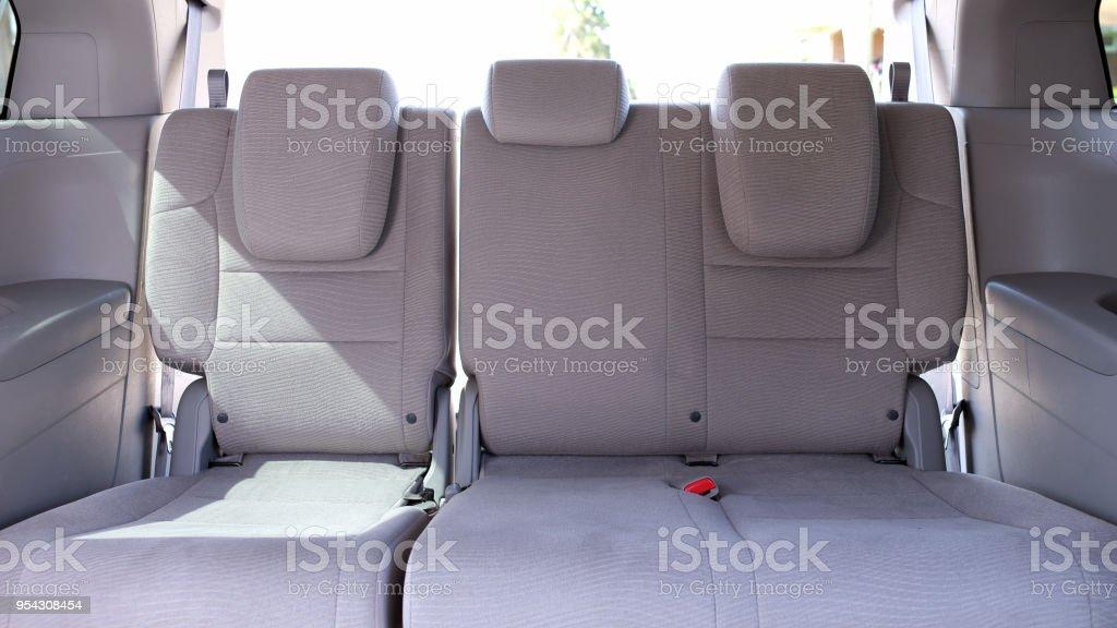 Empty Caravan Back Seat stock photo