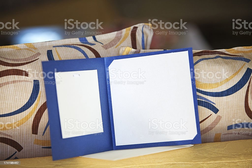 Empty card in a home royalty-free stock photo