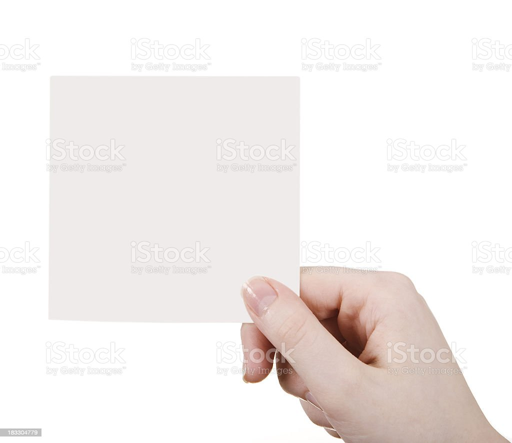 empty card royalty-free stock photo