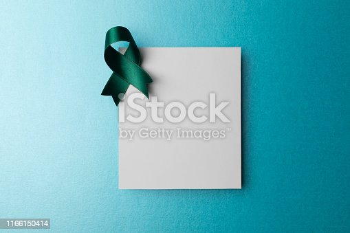 istock Empty Card with Awareness Ribbon 1166150414