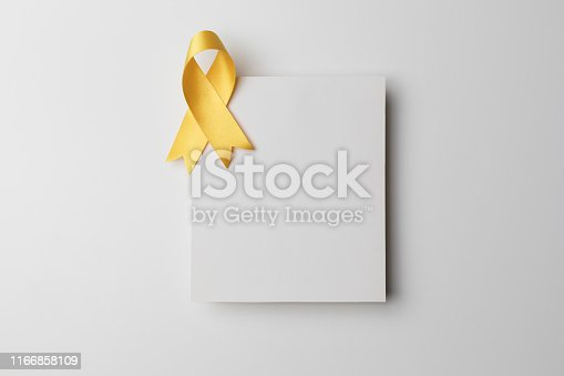 istock Empty Card with Awareness Ribbon 1166858109