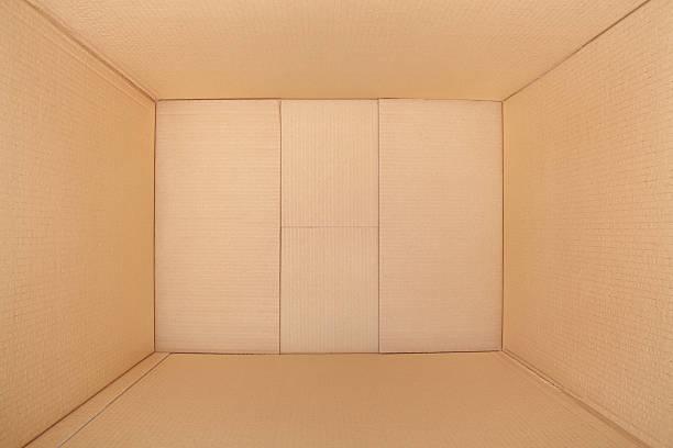 puste pudełko tekturowe, wewnątrz widok - puste pudełko zdjęcia i obrazy z banku zdjęć