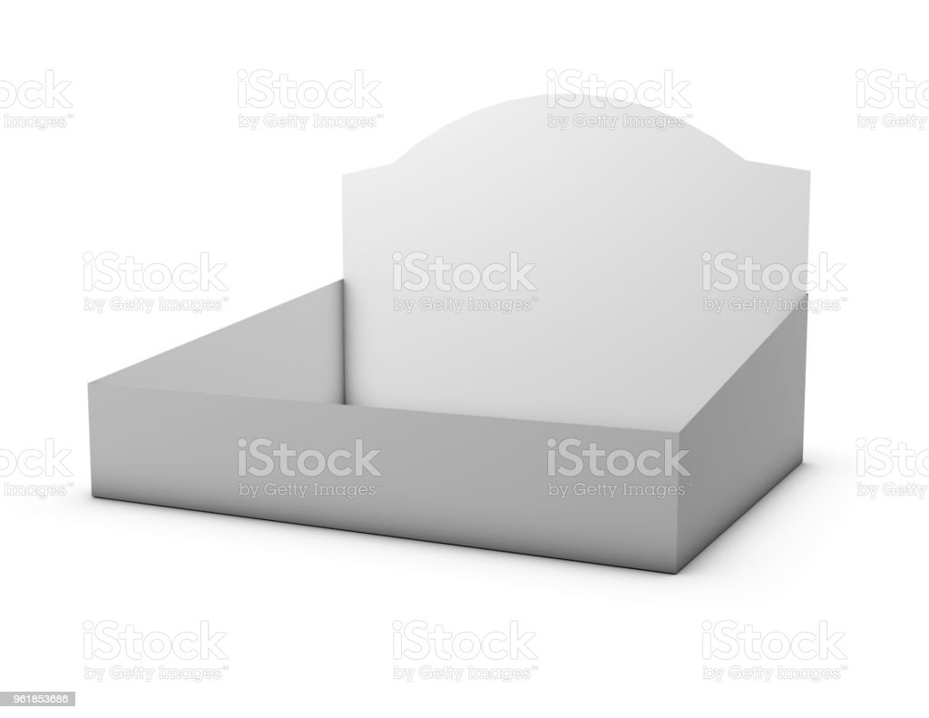 Empty Cardboard Counter Display Box Packaging Royalty Free Stock Photo