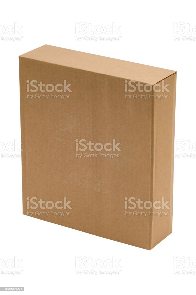 Empty Cardbox ( isolated ) royalty-free stock photo