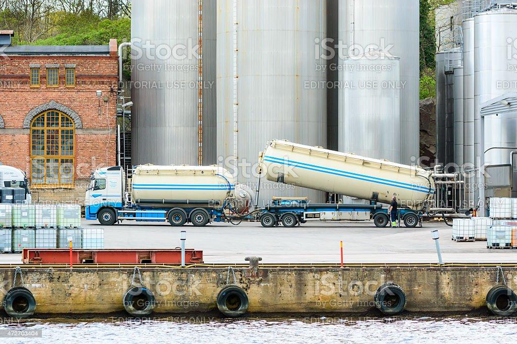 Empty cargo stock photo