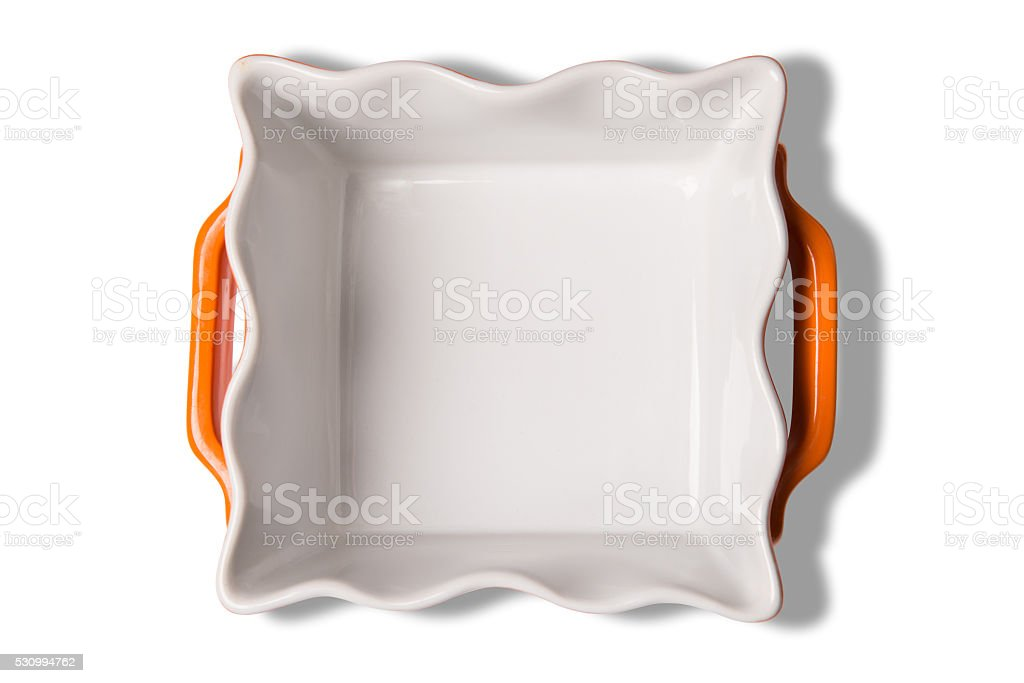 Empty Caserol Dish With Clipping Path stock photo