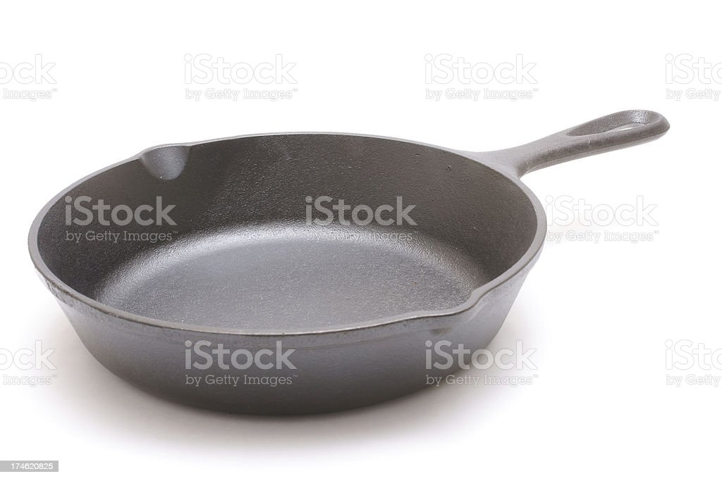 empty cast iron skillet stock photo