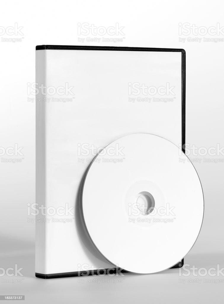 empty CD, DVD case stock photo