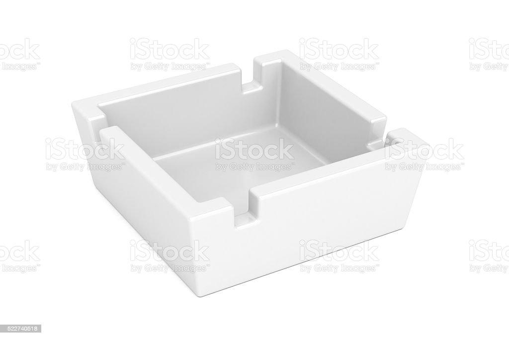 Empty ceramic ashtray stock photo