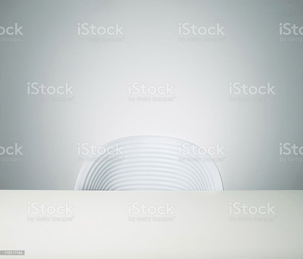 Empty chair stock photo
