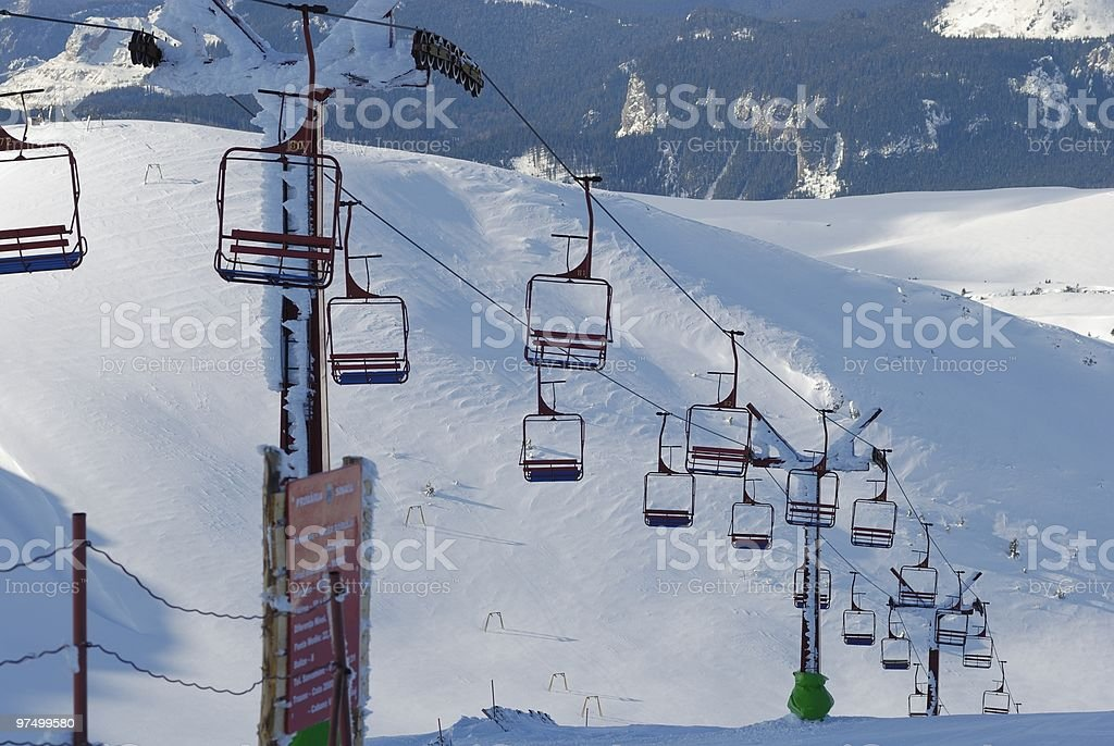 empty chairlift royalty-free stock photo