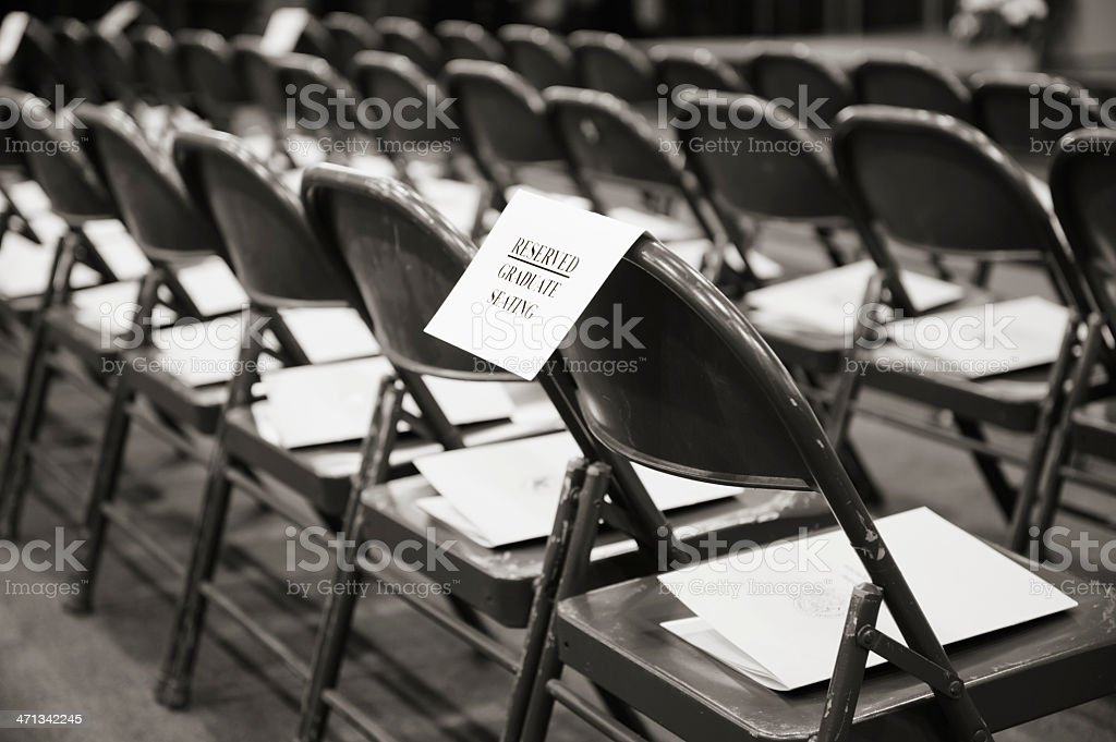 Empty Chairs Before Graduation Ceremony Stock Photo Download Image Now Istock