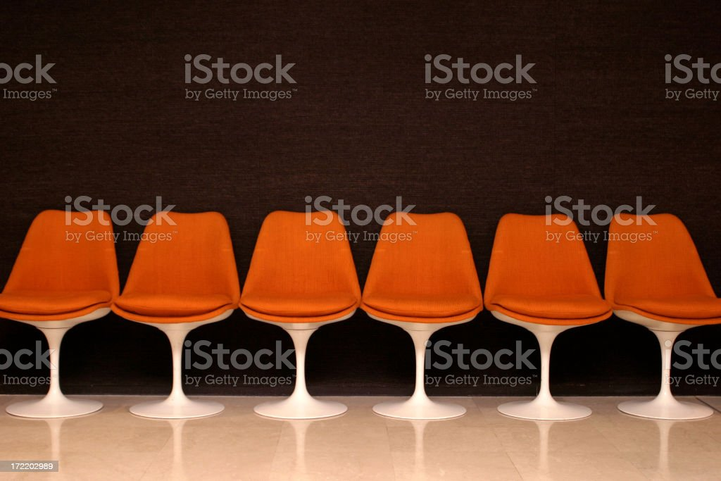 Empty chairs bench royalty-free stock photo