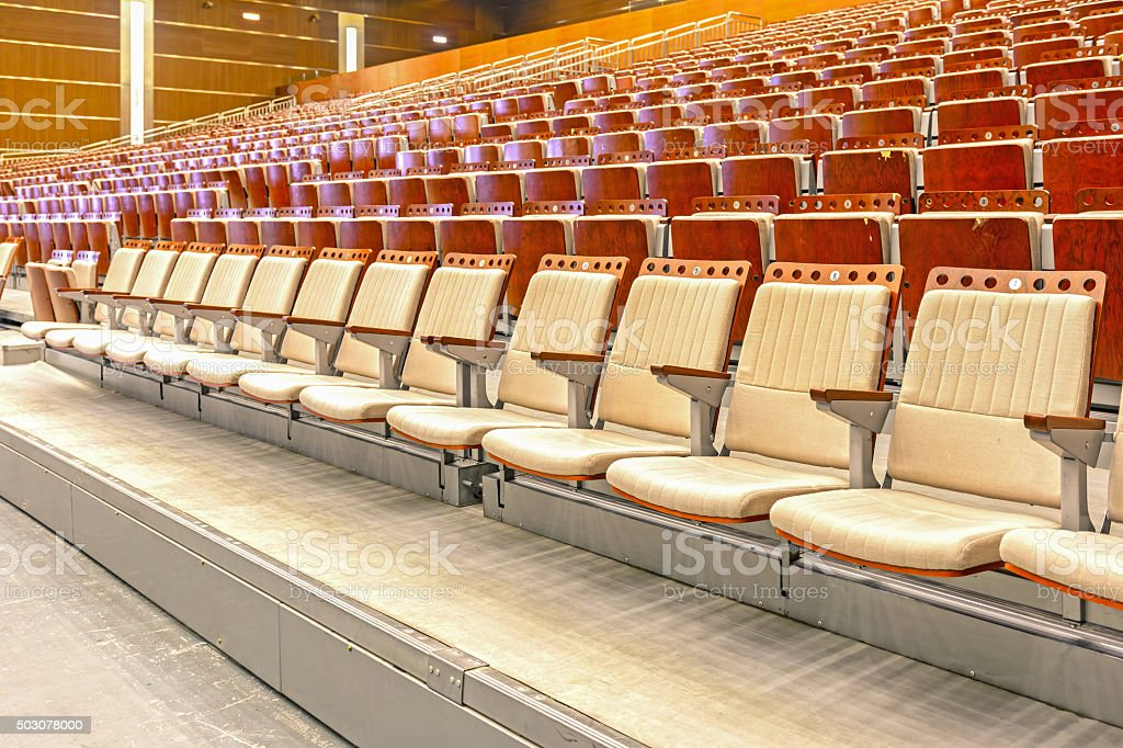 empty chairs. stock photo