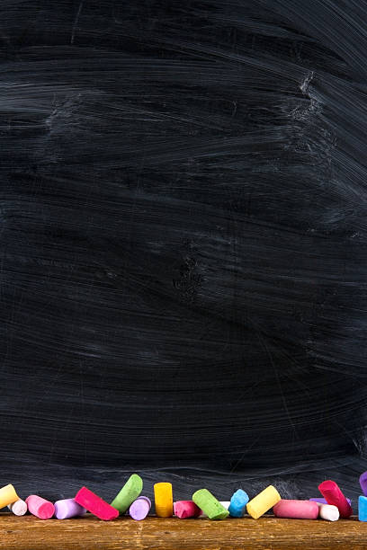 Empty chalkboard for copy space stock photo