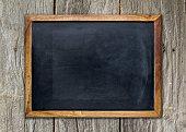 空白メモに残せる黒板木製の面