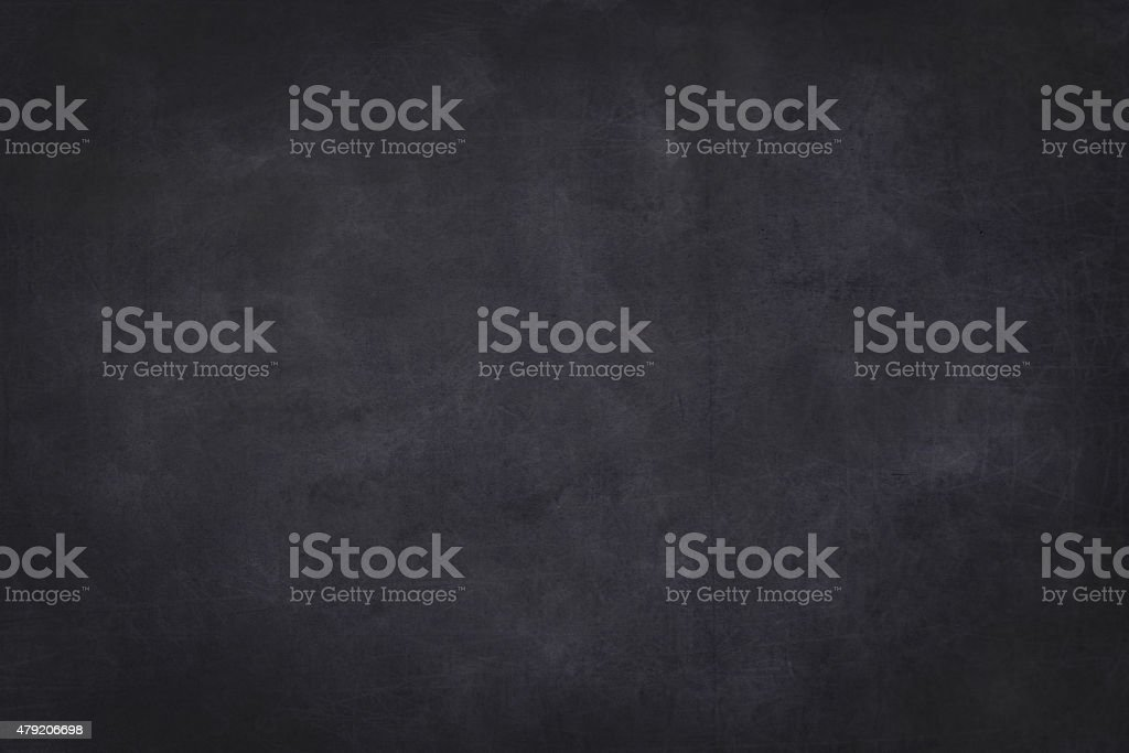 empty chalkboard with wooden frame - background stock photo