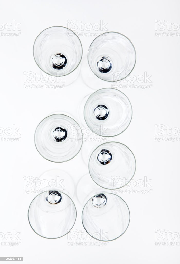 empty champagne glass numbers stock photo