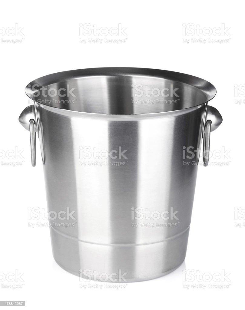 Vazio champanhe balde de gelo - foto de acervo