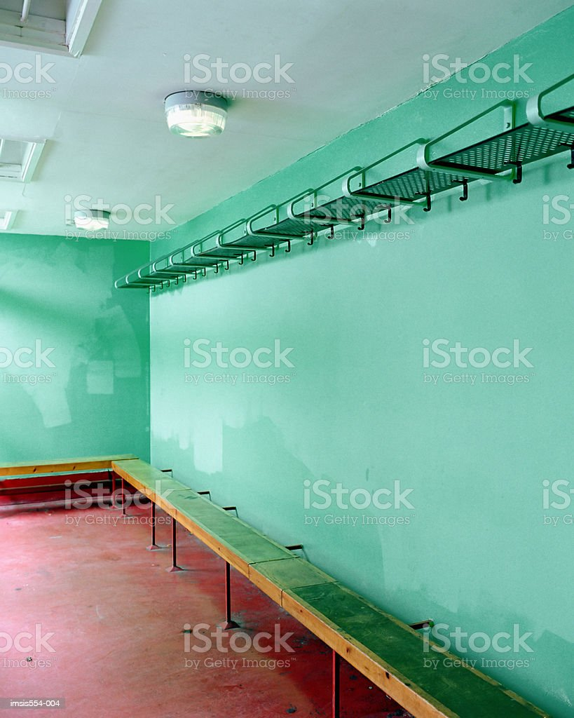 Empty changing room royalty-free stock photo