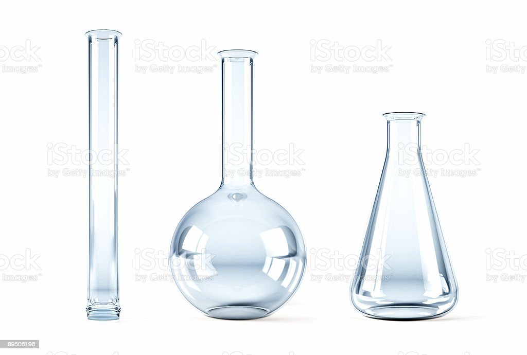 empty chemical flasks royalty-free stock photo
