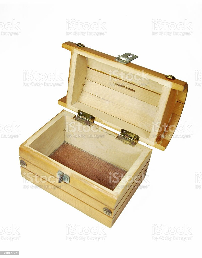 Empty Chest - Clipping path royalty-free stock photo