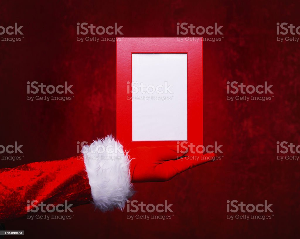 Empty Christmas frame royalty-free stock photo