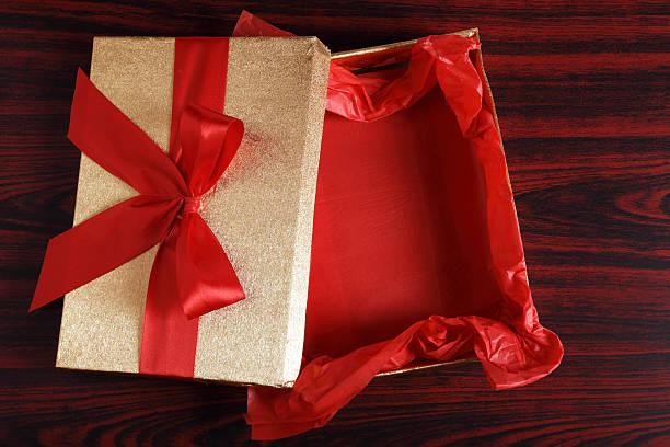 Empty Christmas Gift Box