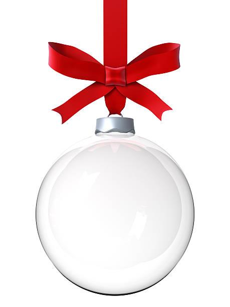 Empty Christmas ornament stock photo