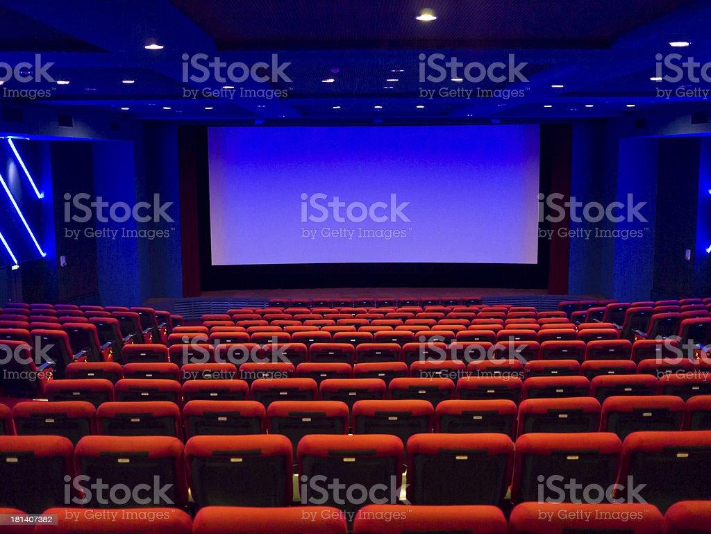 Empty cinema auditorium royalty-free stock photo