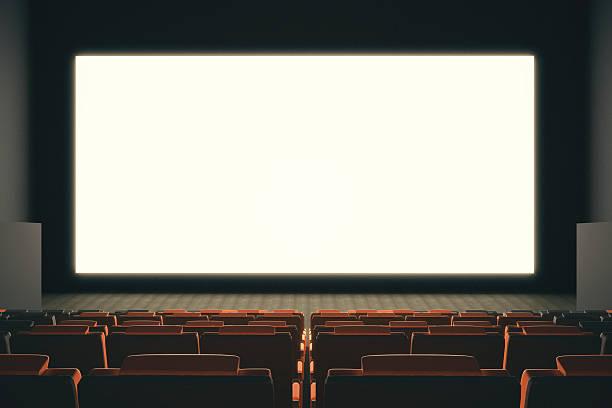 leeren kino bildschirm - große leinwand stock-fotos und bilder