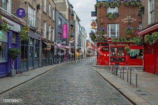 istock Empty city streets during Covid 19, Dublin, Ireland. 1220183471