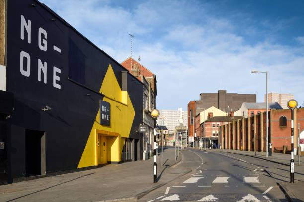 Leere Stadtstraßen von Nottingham, Großbritannien. – Foto