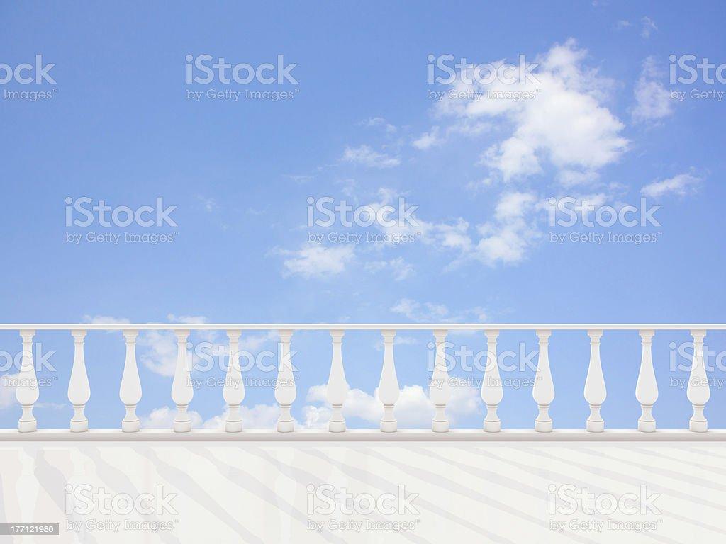 Empty classic terrace royalty-free stock photo