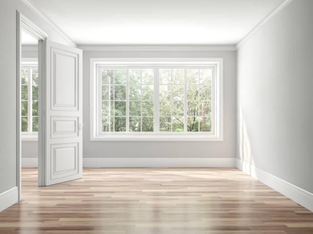 Leere klassische Stil Raum 3D-Rendern – Foto