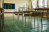 istock Empty classroom during COVID-19 pandemic 1282723854
