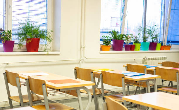 Empty classroom picture id1142029462?b=1&k=6&m=1142029462&s=612x612&w=0&h=oq2ynl0vu6xyxeqa80xfg7qjltunyvgckokicyjyy9o=