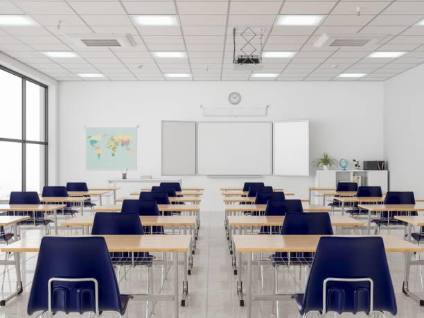 空の教室 - 教室 ストックフォトと画像