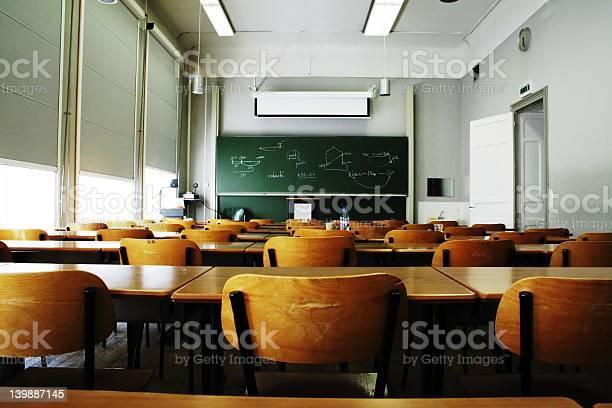 Empty Classroom Stock Photo - Download Image Now