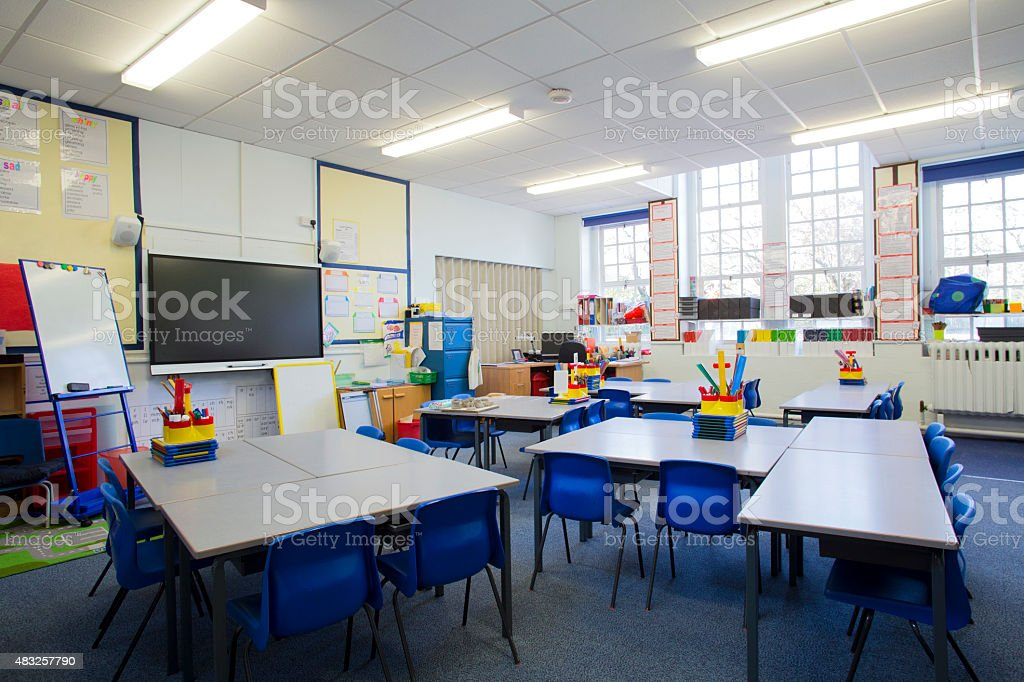 Empty Classroom stock photo