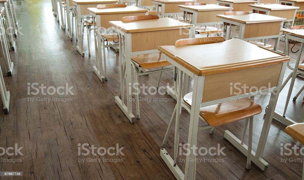 Empty Classroom royalty-free stock photo