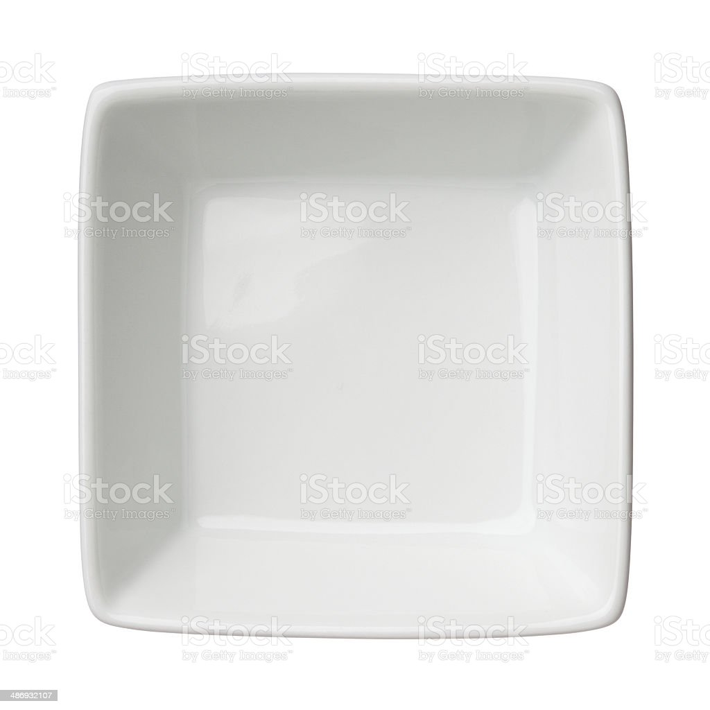 Empty clean square bowl stock photo