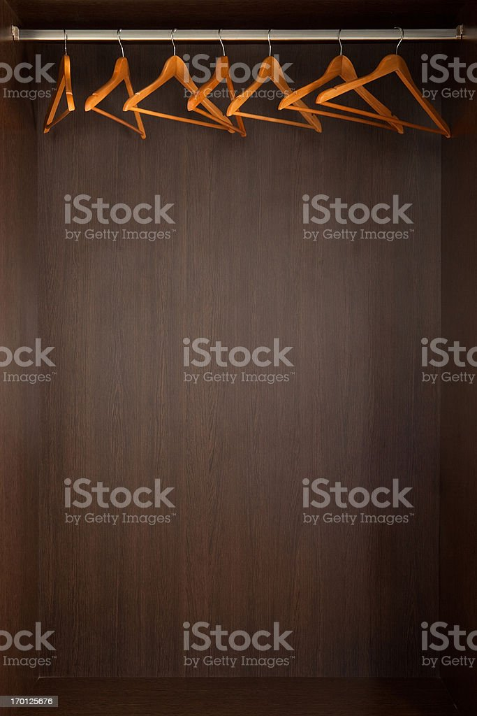 Empty Closet Stock Photo