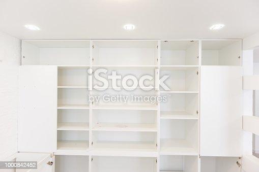 1164403372 istock photo Empty closet working closet cupboard 1000842452