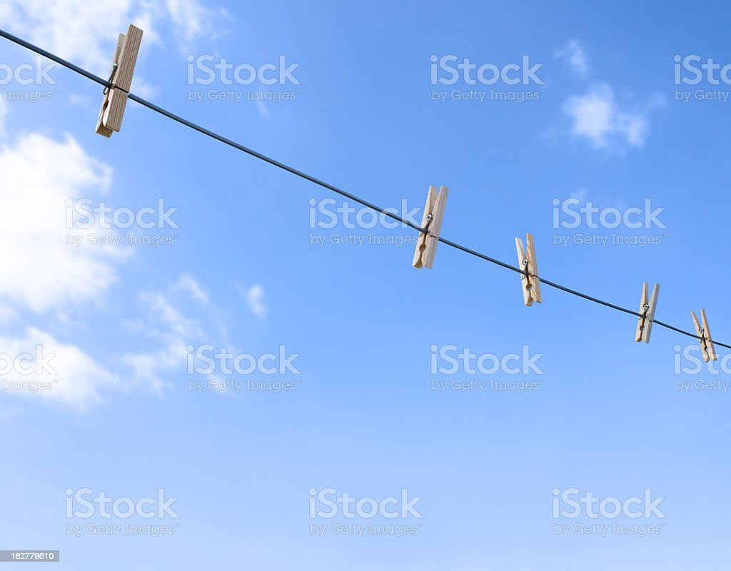 Empty Clothes Line royalty-free stock photo