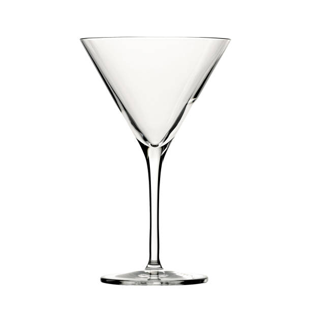 Empty cocktail glass isolated on white background. Empty cocktail glass isolated on white background. martini glass stock pictures, royalty-free photos & images