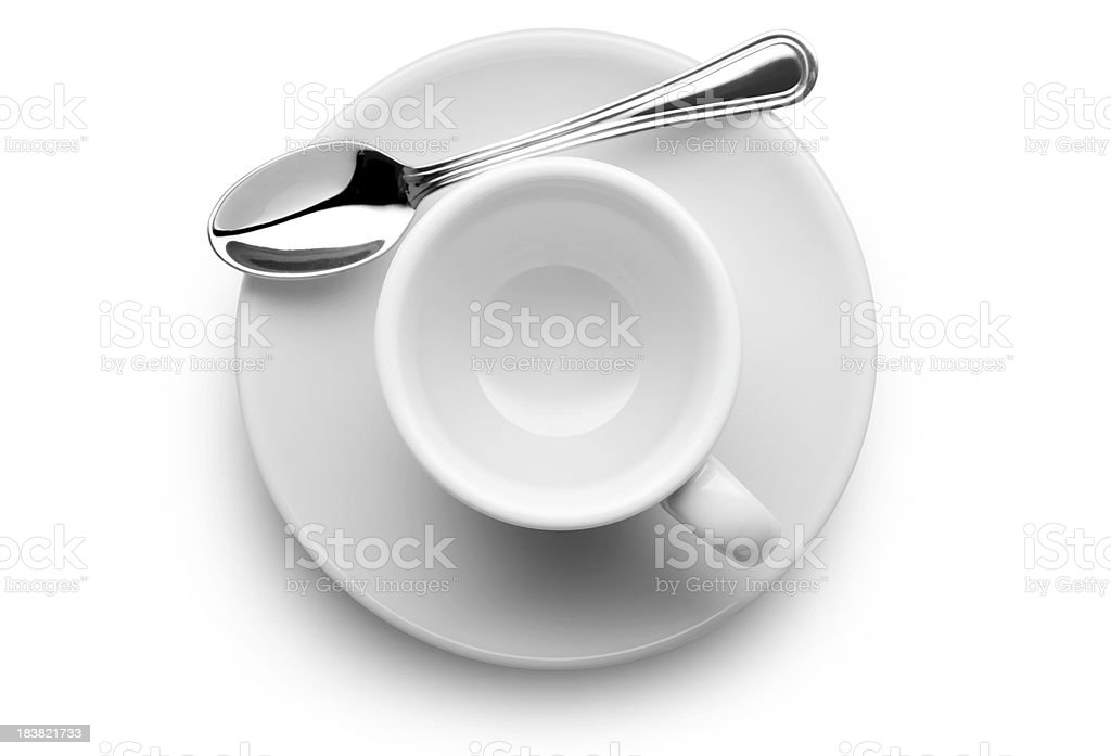 Empty coffee cup stock photo