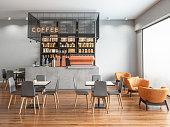空のコーヒーショップ
