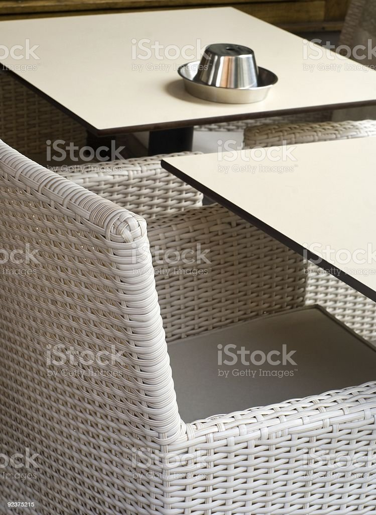 Empty café table royalty-free stock photo