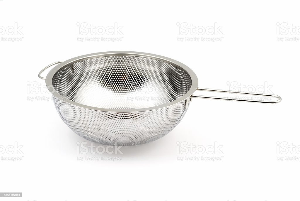 Empty colander royalty-free stock photo
